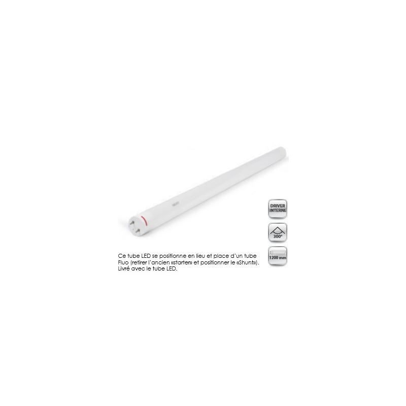 TUBE LED T8 1200mm blanc froid ( 1900Lm ) 20 w  DirectFlam