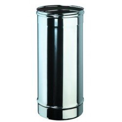 Tube 50 cm inox simple paroi diamètre 80