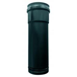 rallonge de tubes de 60 à 180mm  inox noir
