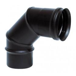 Coude à 90°  inox noir