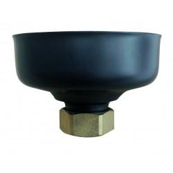 Tampon de purge court  inox noir
