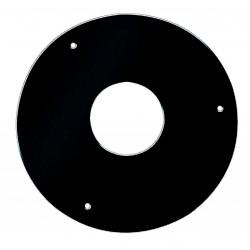 Rosace de finition avec 3 trou et vis  ACIER 1.2MM  D80