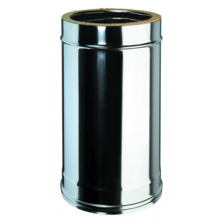 tube 50 cm inox double paroi isol ed100 150 directflam. Black Bedroom Furniture Sets. Home Design Ideas