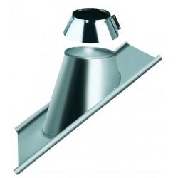 Solin pour tuile pente de 30 à 45° avec collet anti-intempérie et base plomb
