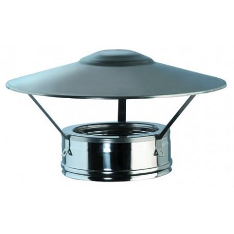 chapeau chinois inox double paroi isol e d 80 130 directflam. Black Bedroom Furniture Sets. Home Design Ideas