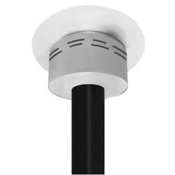 caisson de finition rond ventilé blanc pour plafond h 250mm