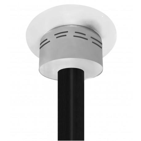 caisson de finition rond ventil blanc pour plafond h 70mm directflam. Black Bedroom Furniture Sets. Home Design Ideas
