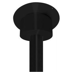 caisson de finition rond noir pour plafond h 250mm