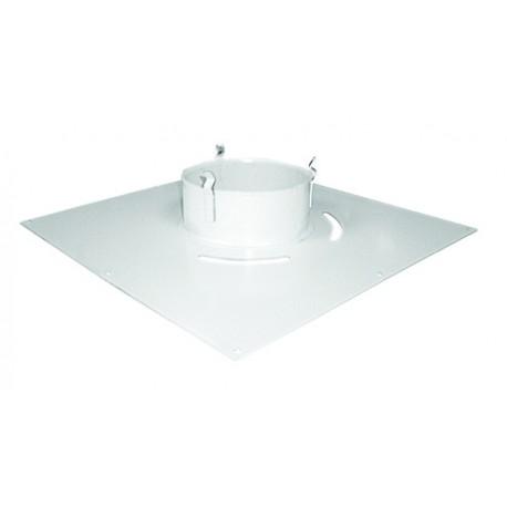 Plaque de propreté carrée 30x30 blanche