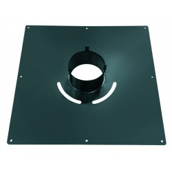 Plaque de propreté carrée 40x40 NOIRE  Ø80