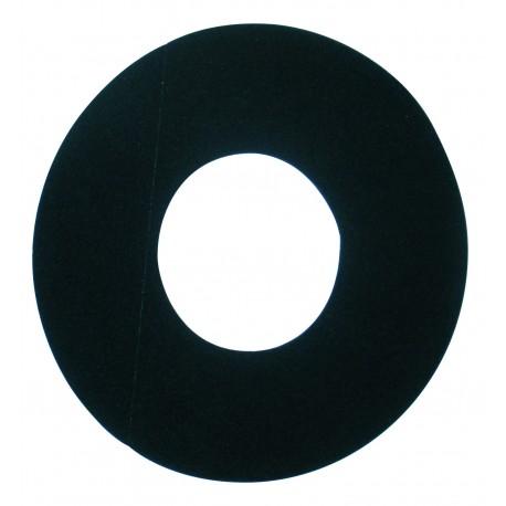 Plaque de propreté diamétre 300 Noire  D100