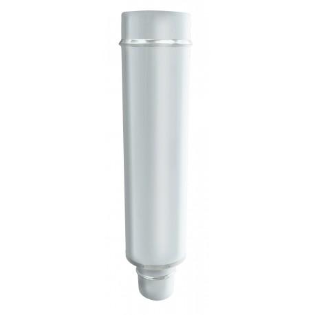 tube 50 cms inox blanc mono double diam tre 180 230 directflam. Black Bedroom Furniture Sets. Home Design Ideas