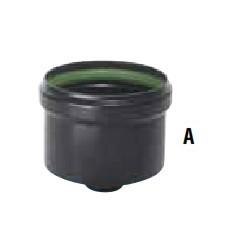 Tampon  émaillé bonchon silicone  NOIR D80