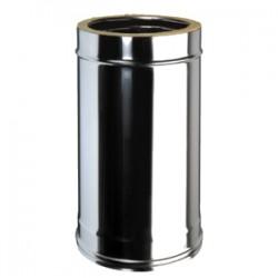 Tube ECO 100 cms inox double paroi isoléeD100/150