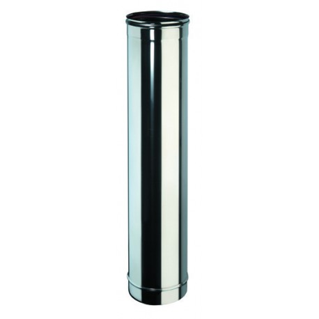 Tube 100 cm inox simple paroi diamètre 80