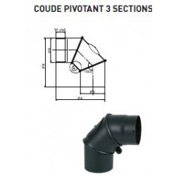 COUDE PIVOTANT AVEC TRAPPE DE VISITE D150