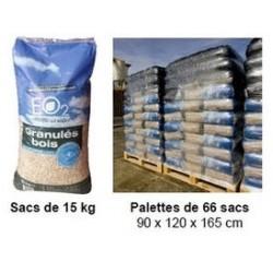 2 palettes de granule de bois EO2 uniquement livré dans le NORD PAS DE CALAIS