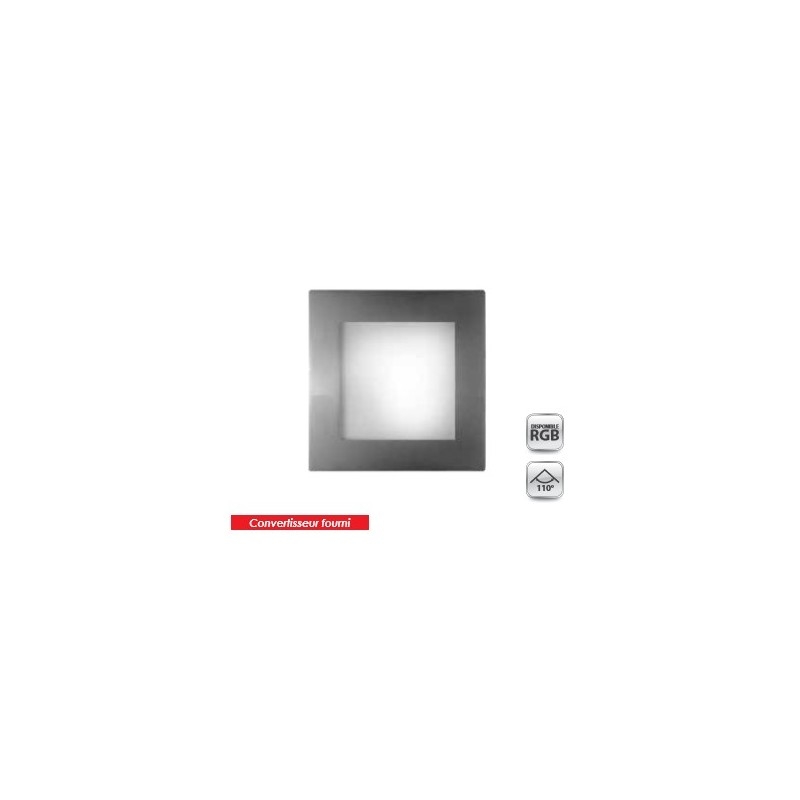 dalle led 20 x 20 blanc chaud 480lm 9w directflam. Black Bedroom Furniture Sets. Home Design Ideas