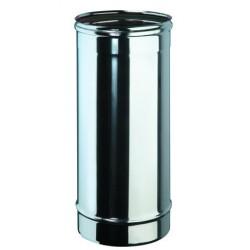 Tube 50 cm inox simple paroi diamètre 80