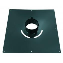 Plaque depropreté carrée noire 40cms x 40 cms D150