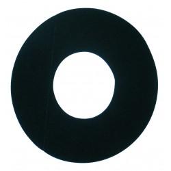 Plaque de finition noire pour caisson concentrique 80/125